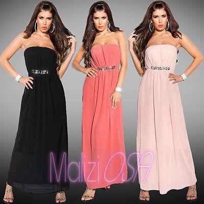 Abito Donna Elegante Stile Impero Vestito Cerimonia Sera Party Dress Kleid