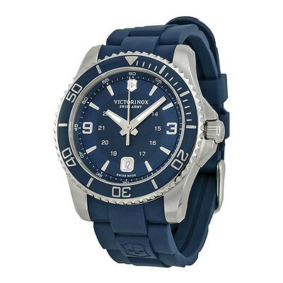 Victorinox Swiss Army Maverick GS Navy Dial Navy Blue Rubber Mens Watch 241603