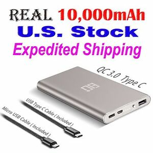 Details about Eighty Plus 10000mAh USB Type C Quick Charge Power Bank for  Phone & Tablet PC G1