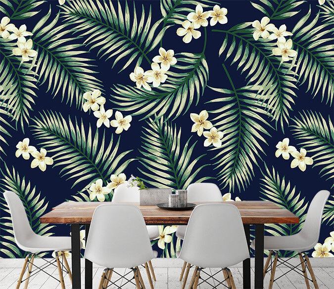 3D Grün Leaf  Petals 5 Wall Paper Wall Print Decal Wall Deco Indoor Wall Murals