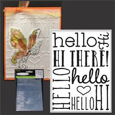 Darice Craft 4 X 6 A2 Size Embossing Folder Tool - Hello Words Background