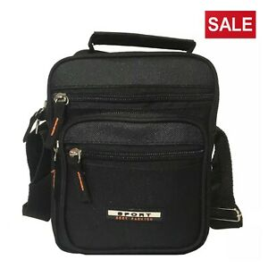 Unisex-Messenger-Bag-Black-Cross-Body-Shoulder-Sling-Utility-Sports-Travel-Work
