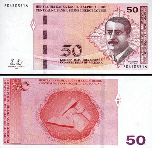 BOSNIA HERZEGOVINA 50 KONVERTIBLE MARKA 2012 UNC P-85