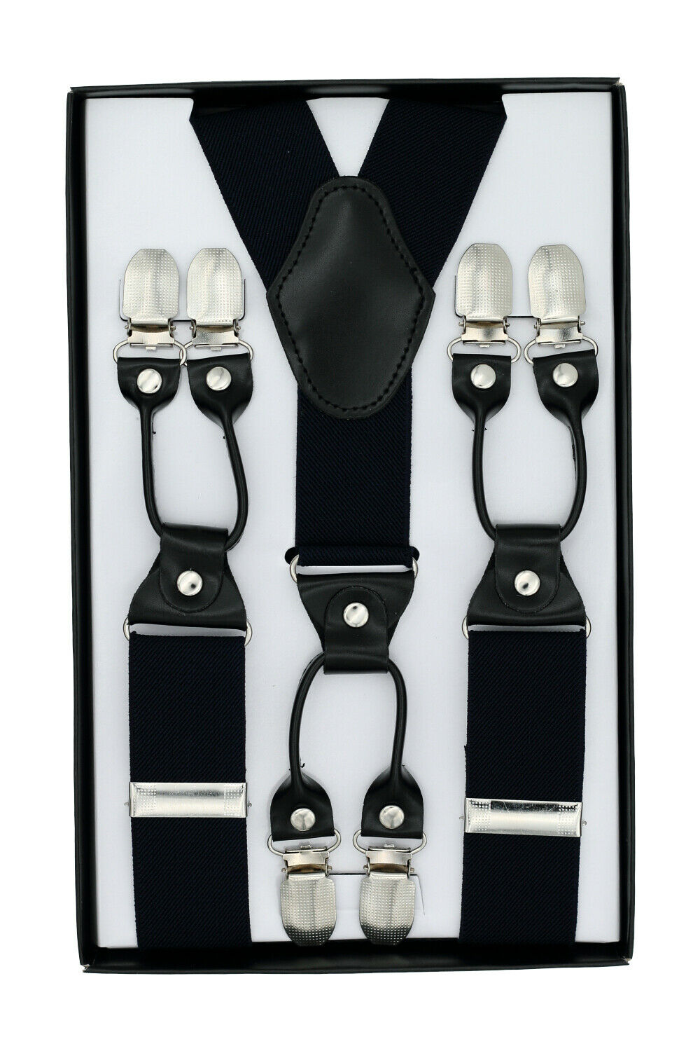 Suspenders for Men, Adjustable Braces Y Shape with 6 Strong Metal Clips