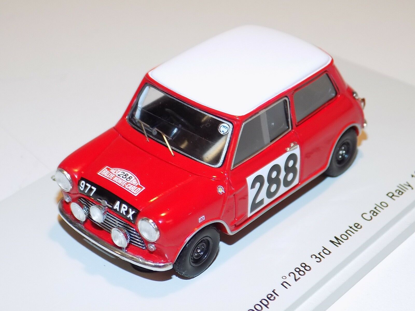 1 43 Spark Morris Mini Cooper Voiture  288 1963 RALLY MONTE CARLO 3rd Place S1187