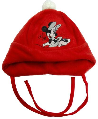 Neu Disney Minnie Mouse Babymütze Mütze Fleecemütze Ohrenschützer rot 42 44 46