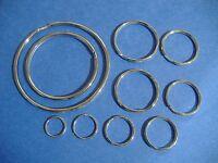 Lot Of Ten Assorted Sizes Split Key Ring Assortment High Quality Rings