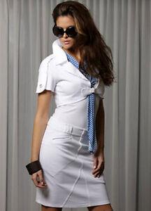 L Shirt Sea teiler 2 Gestreift Weiß Damen 40 Blau Jacke Shell Kurzjacke Bolero CqPCw64