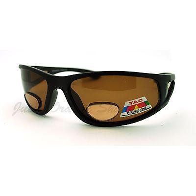 Mens Wrap Around Sport Inner Bifocal Sunglasses Sun Reader Polycarbonate Lens