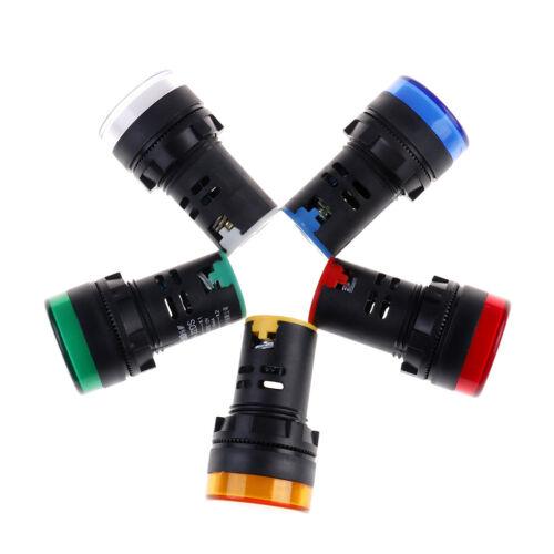 1Pc 22mm 12V LED pilot panel indicator signal warning light lamp AC//DC S/&K