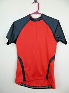 Womens-Specialized-Cascade-Cycling-Jersey-Top-Size-Medium-M-Red-half-zip-short-s