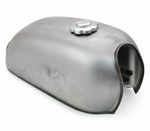 The Peanut Classic Style Gas Tank Motorcycle Mini Bike 1.6 Gallon Raw Steel