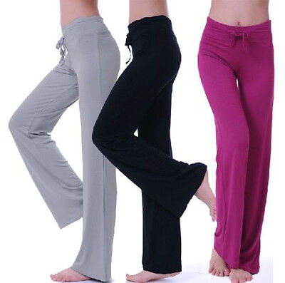Women Soft Modal Yoga Gym Sports Athletic Pants Leggings Wide Leg pants S-XXL