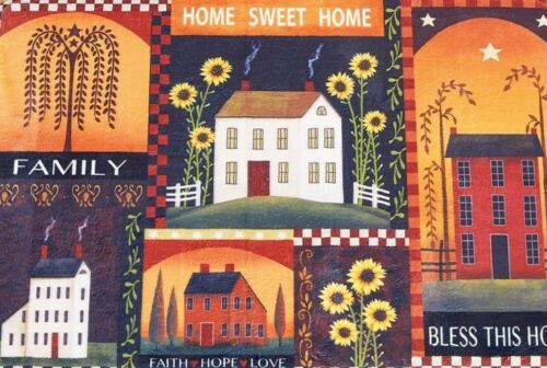Country Primitive Window Valance House Silhouette Sweet Sentiments Home