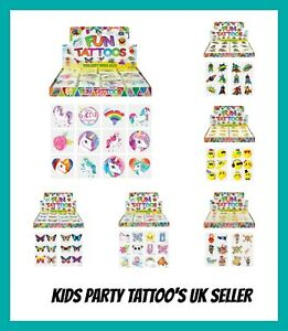48 PIRATE TEMPORARY TATTOOS Assorted Design Party Bag Filler Loot Girls Boys