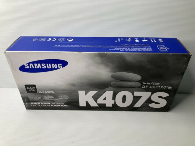 GENUINE Samsung CLT-K407S Black Toner Cartridge