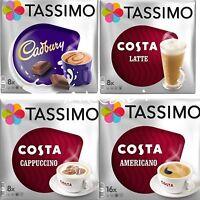 TASSIMO COSTA Cappuccino Cadbury Latte Americano 4 Packs Set 40 T-Discs Pods