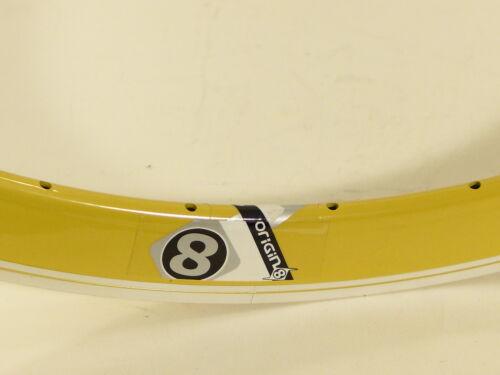 Origin8 Rim Trak Attak Deep-V Yellow 32 Hole 700c rim w//MSW Fixie Track  O8 22