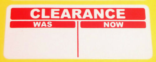Sticky Labels 300 Bright Red 20 x 50mm CLEARANCE was//now  Price Point Stickers