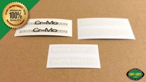 for OGK White Peregrine Master Graphite BMX Mag Wheel Decal Stickers SUZUE