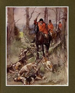 FOXHOUNDS-HORSES-AND-RED-COAT-HUNTSMEN-WITH-WHIP-HUNTING-FOX-DECORATIVE-PRINT