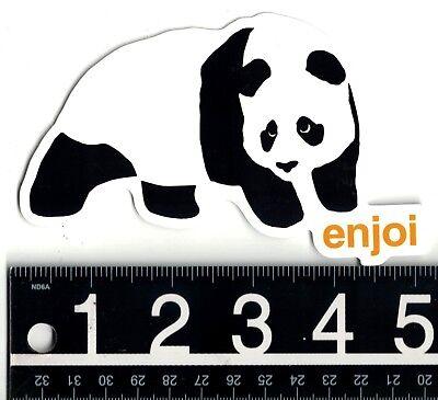 "ENJOI PANDA STICKER 1.5/"" X 2.75/"" FREE SHIPPING IN THE USA"