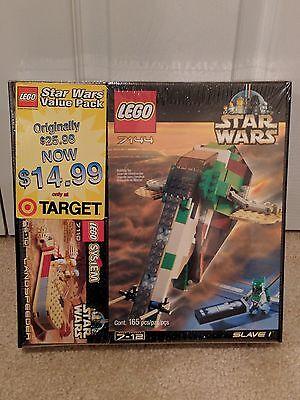 LEGO Star Wars 2 Pack SLAVE I 7144 & LANDSPEEDER 7110 Rare Sealed Set Boba Fett
