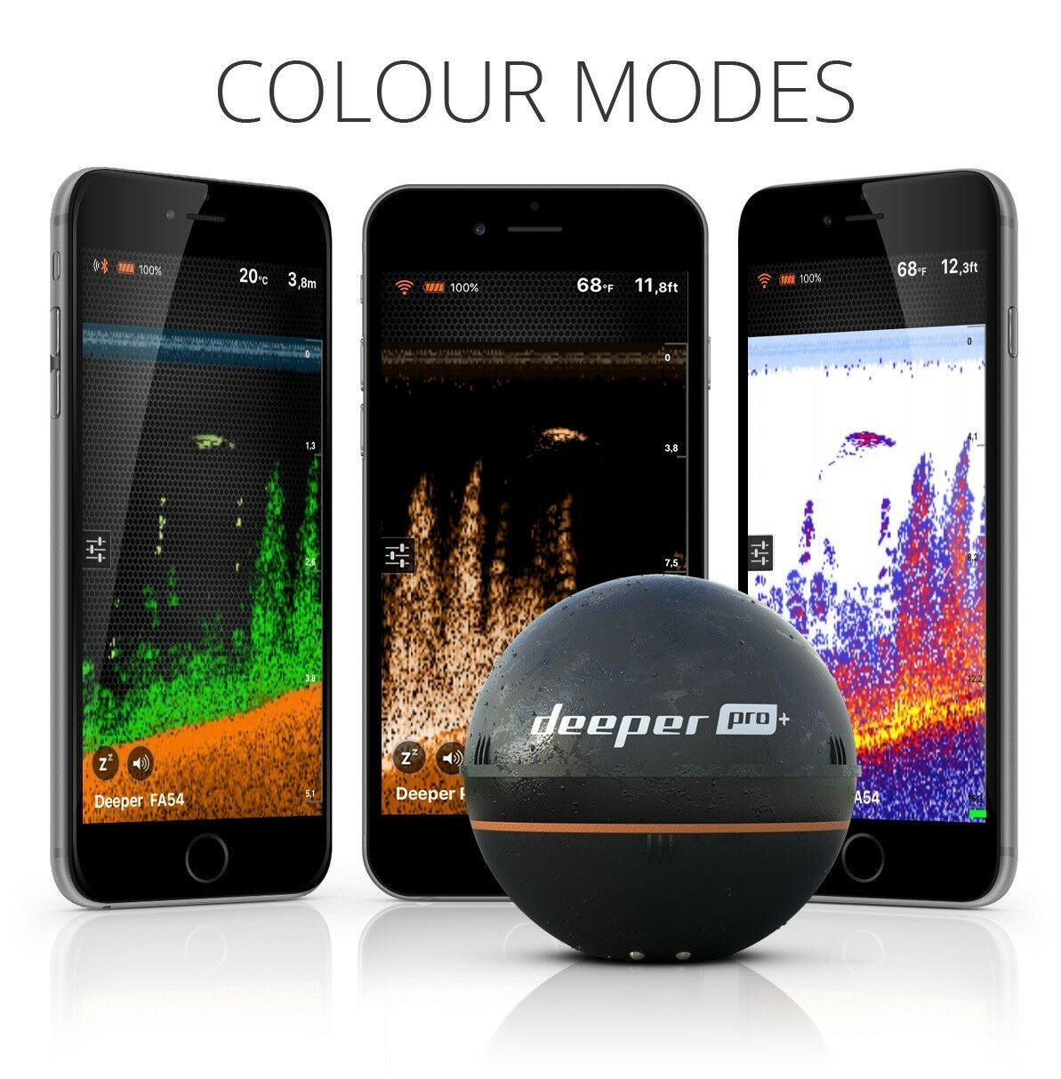 Más profundo Pro Plus + Fishfinder, Inalámbrico Inalámbrico Inalámbrico Sonar, Compatible-IOS & Dispositivos Android cb4f82