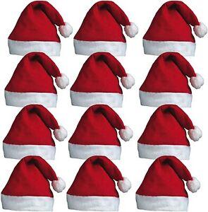 12x-Father-Christmas-Hat-Xmas-Santa-Fancy-Costume-Santa-Claus-Eve-Key-Gift