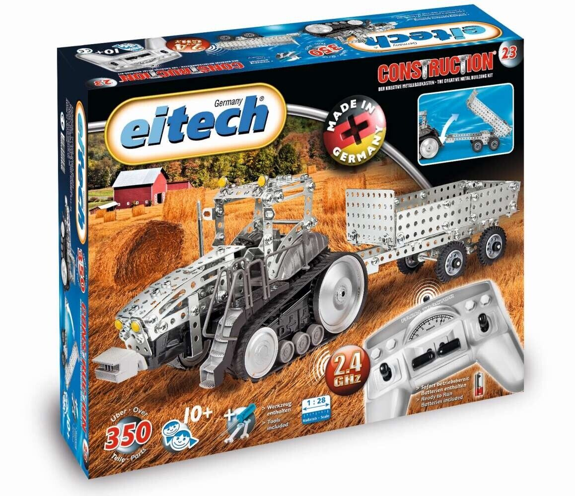 Eitech 00023 - Me ­ Tall ­ Construction­ Kas ­ Ten Rc Tractor with Trailer