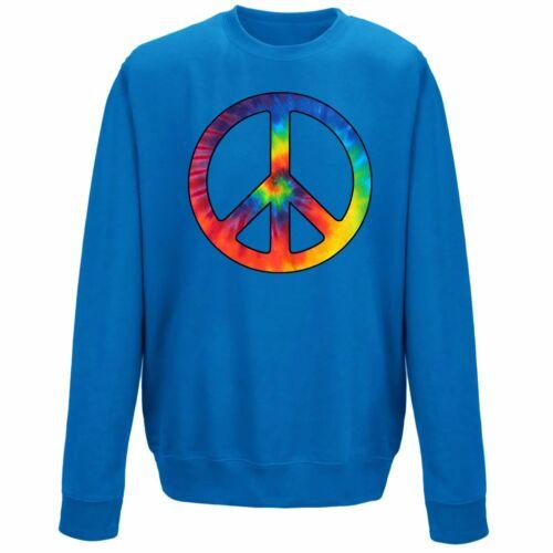 Kids Tie Dye Peace Symbol CND Sweater Sweatshirt Jumper