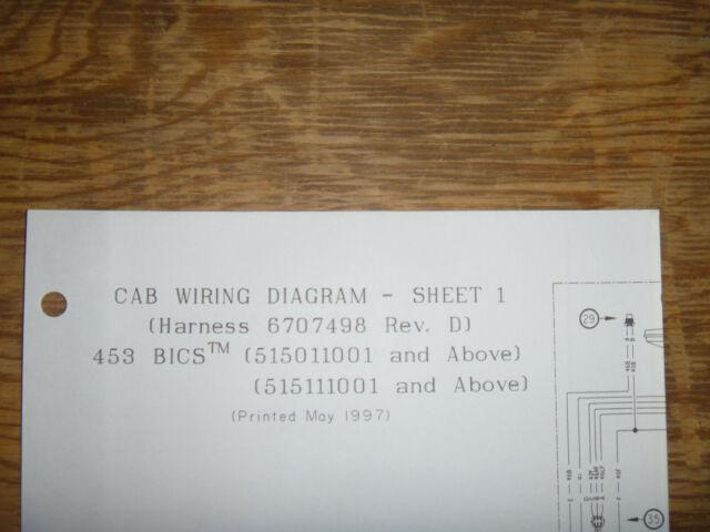 Bobcat 453 Bics Skid Steer Cab Electrical Wiring Diagram