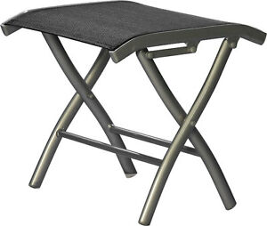 Bank de pied DIPLOMAT alu | noir salon de jardin chaise meuble de ...