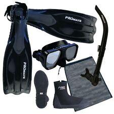 NEW Scuba Dive Mask Snorkel Boots Fins Package Gear Set