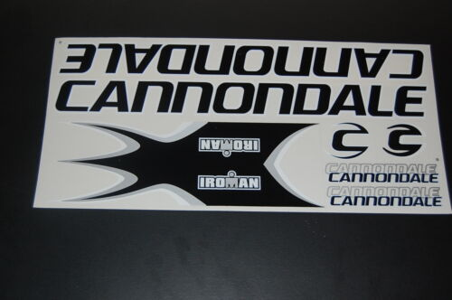 White /& Silver. Cannondale Stickers  Black