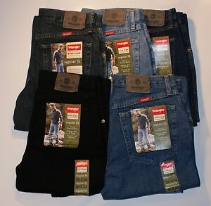 New-Wrangler-Five-Star-Regular-Fit-Jeans-Men-s-Sizes-Five-Colors