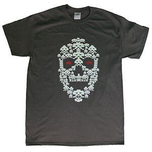 Skull-Space-Invader-Dark-Grey-T-shirt