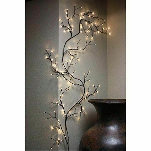 Lightshare Lighted Willow Tree 5.5 Feet 200 LED Lights For All Season Decoration