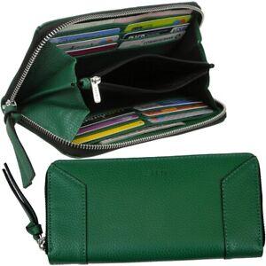 ESPRIT-Damen-Brieftasche-Vegan-Geldboerse-Portemonnaie-Geldtasche-Geldbeutel-Gruen