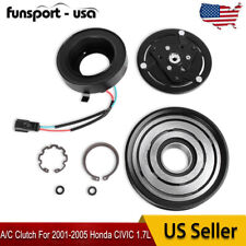 Ac Compressor Clutch Pulley Bearing Coil Plate For 2001 2005 Honda Civic 17l Fits 2001 Civic