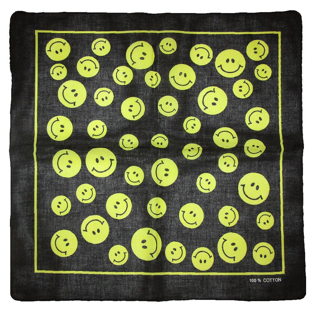Wholesale Lot 3 Black With Smiley Faces 100% Cotton 22