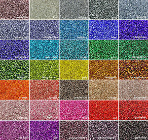Rocailles-m-Silbereinzug-2-3-4mm-100-g-Farbauswahl-Perlen-Glasperlen-RP-11
