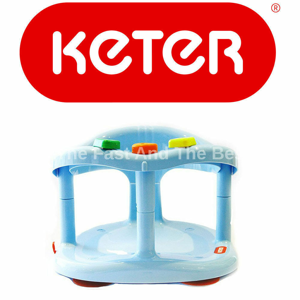 keter baby bath seat ring safety anti slip infant tub chair blue fast shipping. Black Bedroom Furniture Sets. Home Design Ideas