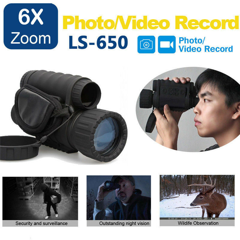 Lshine LS-650 Night Vision Sight Monocular 6x Zoom Digital Telescope For Hunting
