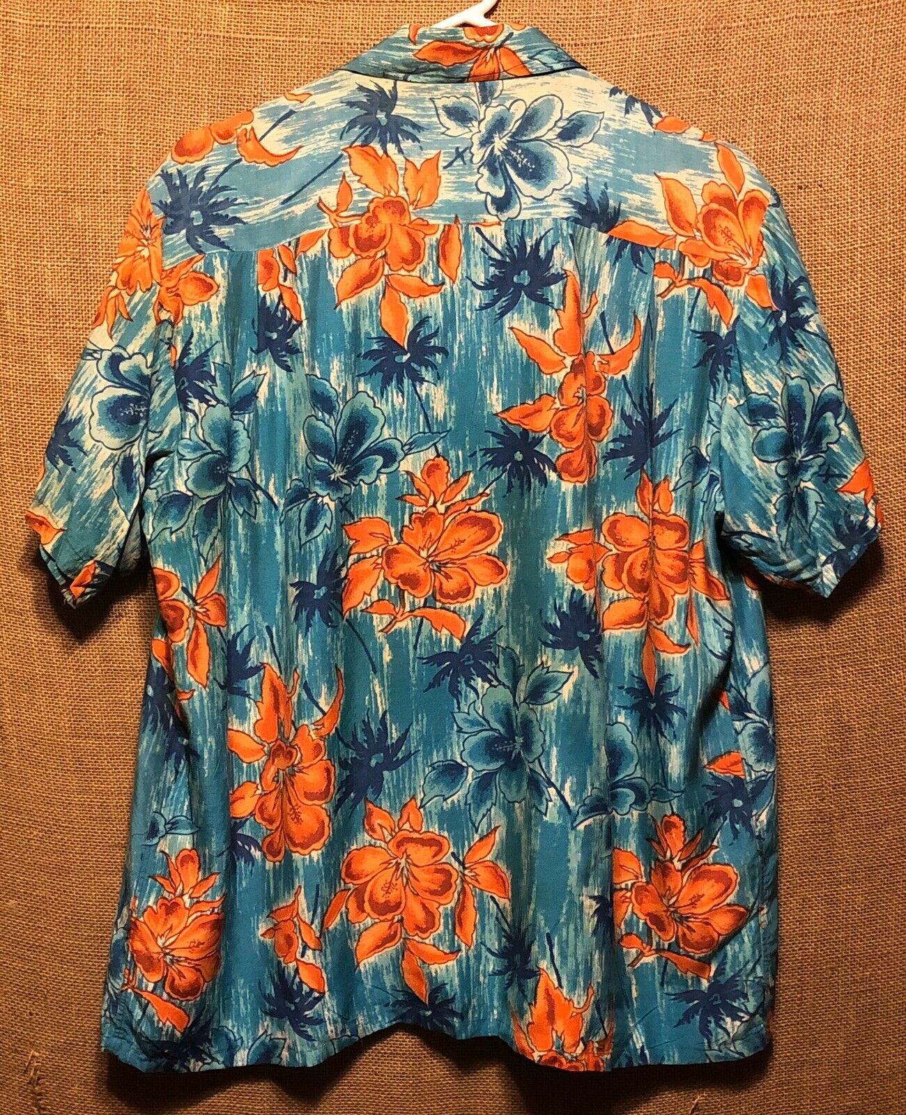 Vintage 1960's Aloha Blue Floral Rayon Hawaiian A… - image 2