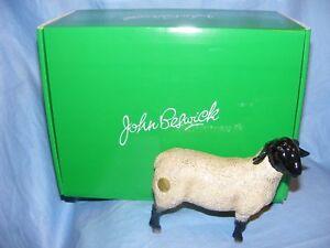 John-Beswick-Sheep-Suffolk-Ewe-Farmyard-JBF81-Figurine-Present-Gift-NEW