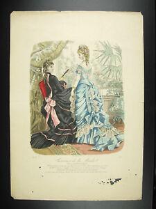 Lithography-c1890-Fashion-French-Dress-of-Dames-the-Season-Fashion-Fcuk-French