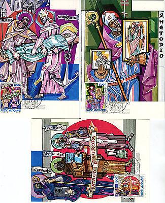 Diverse Philatelie Maximumkarten 3 Maximumkarten Mk Vatikan 1985 Nr 867-869 1100 Todestag Hl Methodios O Mk096 GroßEs Sortiment