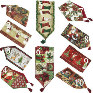 Tache-Festive-Winter-Holiday-Christmas-Xmas-Woven-Tapestry-Table-Linen-Runners