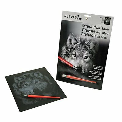 NEW Reeves - Silver Scraperfoil Wolf